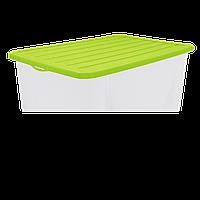Контейнер для хранения вещей 6 л верх оливковый, низ прозрачный