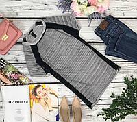 Женственная туника H&M с необметанной кромкой и фактурными вставками  TS4377