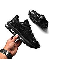 Кроссовки Nike Air Max 98 X Supreme Black  replica AAA