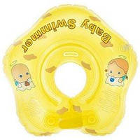 Круг на шею Baby Swimmer KP101038 желтый с погремушками