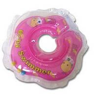 Круг на шею Baby Swimmer KP101039 розовый с погремушками