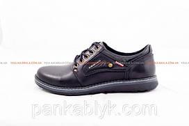 Мужские туфли Кристан black Живые фото