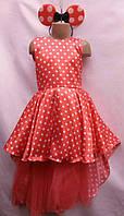 Детское нарядное платье  6-7 лет,красное