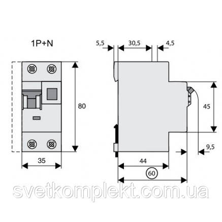 Дифференциальный автоматический выключатель PFL7-25/1N/C/03 (165662) Eaton, фото 2