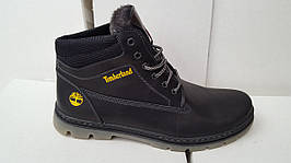 Мужские зимние кожаные ботинки больших размеров 46,47,48,49,50 Big Boss  Timberland Живые фото