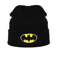 Модная женская трикотажная шапка BATMAN черного цвета
