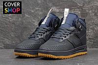 Кроссовки женски Nike Lunar Force LF1 -Original, темно-синие, материал - кожа, утеплитель - натуральный мех