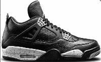 Кроссовки баскетбольные Nike Air Jordan IV Retro Black Leather