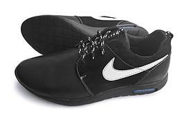 Кожаные кроссовки Nike Black Star 46,47,48. (топ реплика)