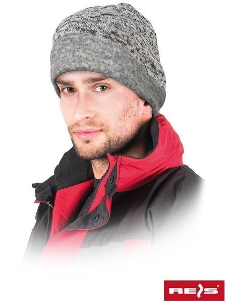 Шапка зимняя утепленная REIS Польша серая (головные уборы рабочие) CZCHILLIN S