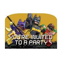 Приглашения Лего Бэтмен Lego Batman 8 штук