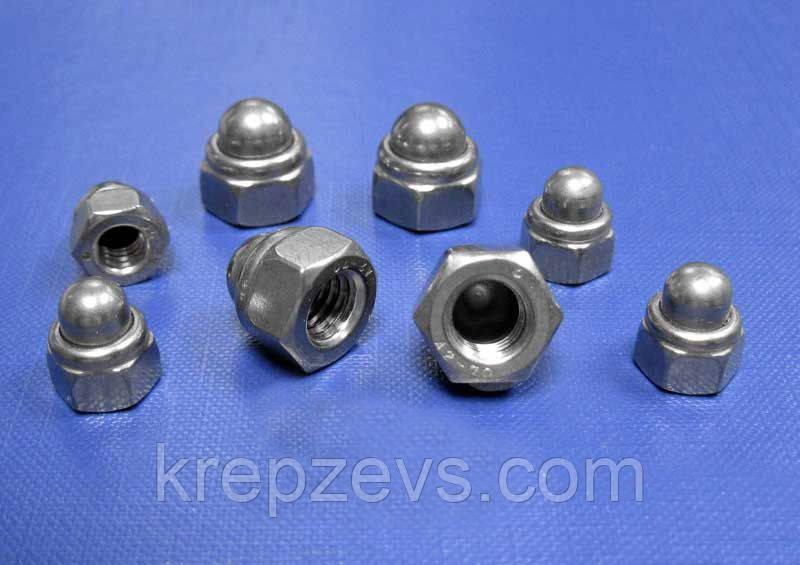 Колпачковые гайки М20 ГОСТ 11860-85 сталь А2, А4
