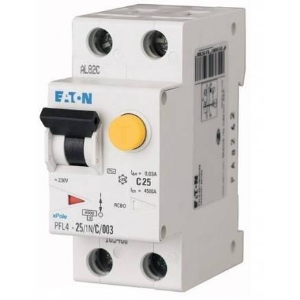 Диференційний автоматичний вимикач PFL4-25/1N/C/003 (293300) Eaton, фото 2