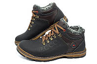 Мужские зимние кожаные ботинки Ecco Receptor Живые фото