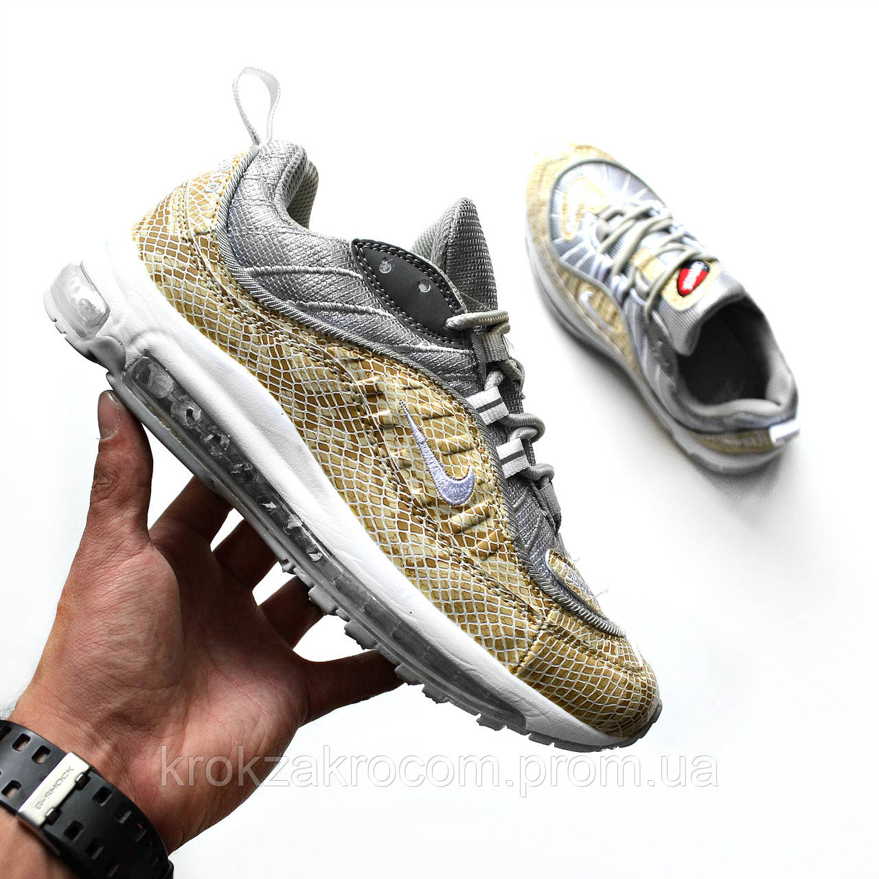 new product 164b9 ea0ee ... inexpensive nike air max 98 x supreme snakeskin replica aaa e8f8a 7d714