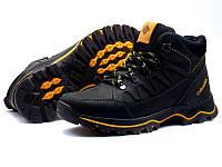 Мужские зимние кожаные ботинки Columbia NS black