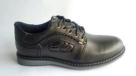 Мужские кожаные туфли Кристан NS black