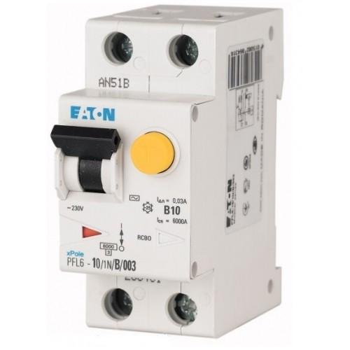 Дифференциальный автоматический выключатель PFL6-10/1N/B/003 (286429) Eaton