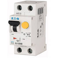 Дифференциальный автоматический выключатель PFL6-16/1N/B/003 (286431) Eaton, фото 1