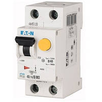 Диференційний автоматичний вимикач PFL6-40/1N/B/003 (286435) Eaton