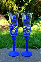 Свадебные бархатные бокалы