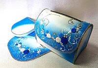 Синий сундучок для денежек на свадьбу