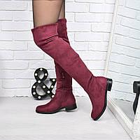 Сапоги женские ботфорты Mikado бордо ЗИМА 3776, зимняя обувь