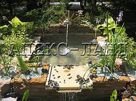 Декоративный водоем с водопадом.