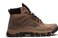 Мужские кожаные зимние ботинки  083 ол.