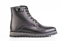 Мужские кожаные зимние ботинки  077 41
