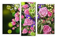 Модульная картина букет розовых роз