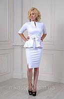Женский костюм двойка белый Сюзанна , фото 1