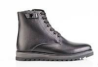 Мужские кожаные зимние ботинки  077 42