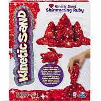 Песок для детского творчества - KINETIC SAND METALLIC (красный, 454 г), фото 1