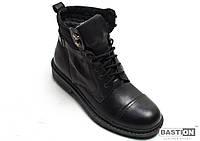 Мужские кожаные зимние ботинки  044 ч. 45
