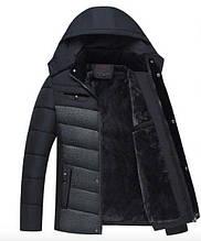 "Мужская зимняя куртка Black-Grey Classic ""GYFS-Fur"""