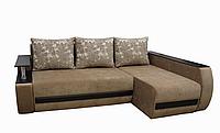 Угловой диван Garnitur.plus Граф светло-бежевый 245 см