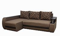 Угловой диван Garnitur.plus Граф коричневый  245 см