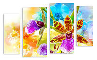 Модульная картина цветочная композиция
