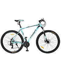 """Велосипед 29 дюймов G29PRECISE A29.1 алюминиевая рама 21"""", Shimano 21SP, кассета, алюм.DB, двойной обод, мята"""