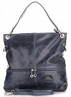 Брендовая итальянская женская сумка VITTORIA GOTTI из натуральной кожи синего цвета