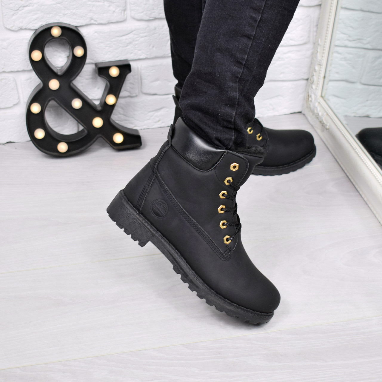 78375ba5f70a Ботинки женские Timber черные Зима 3778,Размер 39, ботинки женские -  Интернет - магазин