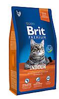 BritPremium Cat Indoor - Корм для кошек, живущих в помещении НЕЖНАЯ КУРИЦА С СОУСОМ ИЗ КУРИНОЙ ПЕЧЕНИ 1,5кг