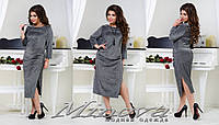Вечернее платье люрекс на дайвинге   большого размера ТМ Минова размеры: 50,52,54,56