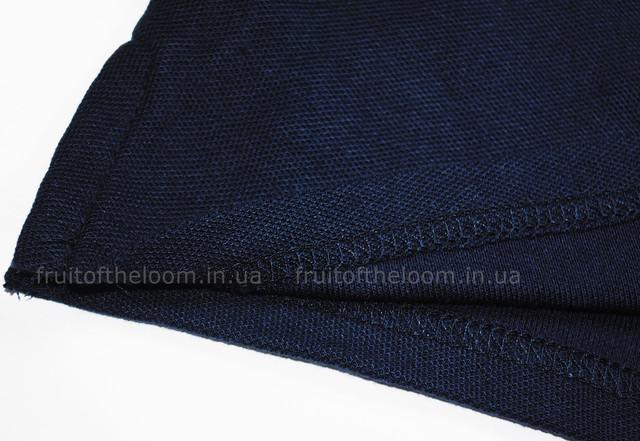 Глубоко тёмно-синее женское поло 65/35