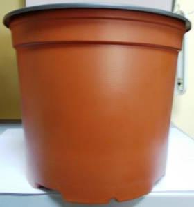 Горщик для розсади 19см 3л коричневий