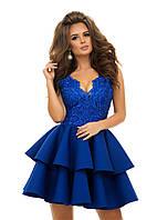 Нарядное платье из гипюра и неопрена 42,44,46 р-ры 5 цветов