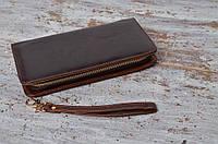 Мужской кожаный клатч бумажник кошелек на застёжке MS Collection! Натуральная кожа!