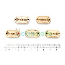 Бирки деревянные HAND MADE 3, 24х12 мм, 5 шт, микс