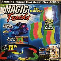 Детский светящийся гибкий трек Magic Tracks: 220 деталей (светящаяся дорога с машинкой Меджик Трекс), фото 1